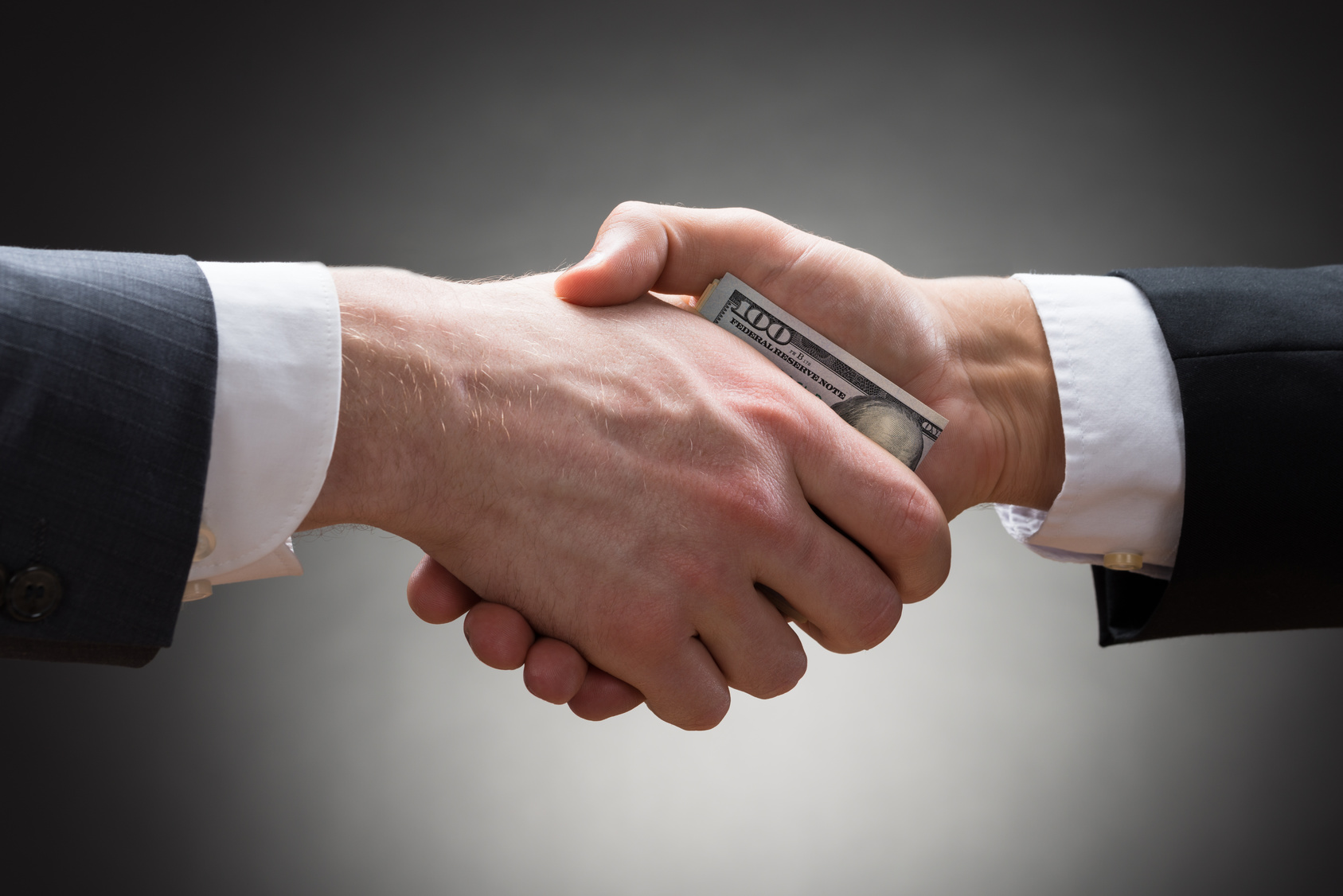 Businesspeople Hands With Money